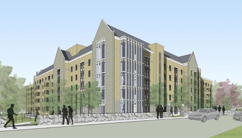 Boston College - 2150 Commonwealth Ave Residence Hall. Neighborhood.  Brighton. Address