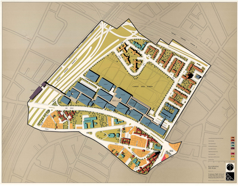 Boston Map Historical Sites.Urban Renewal Boston Planning Development Agency