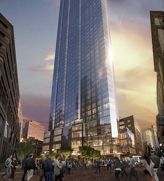 Millennium Tower And Burnham Building Boston Planning