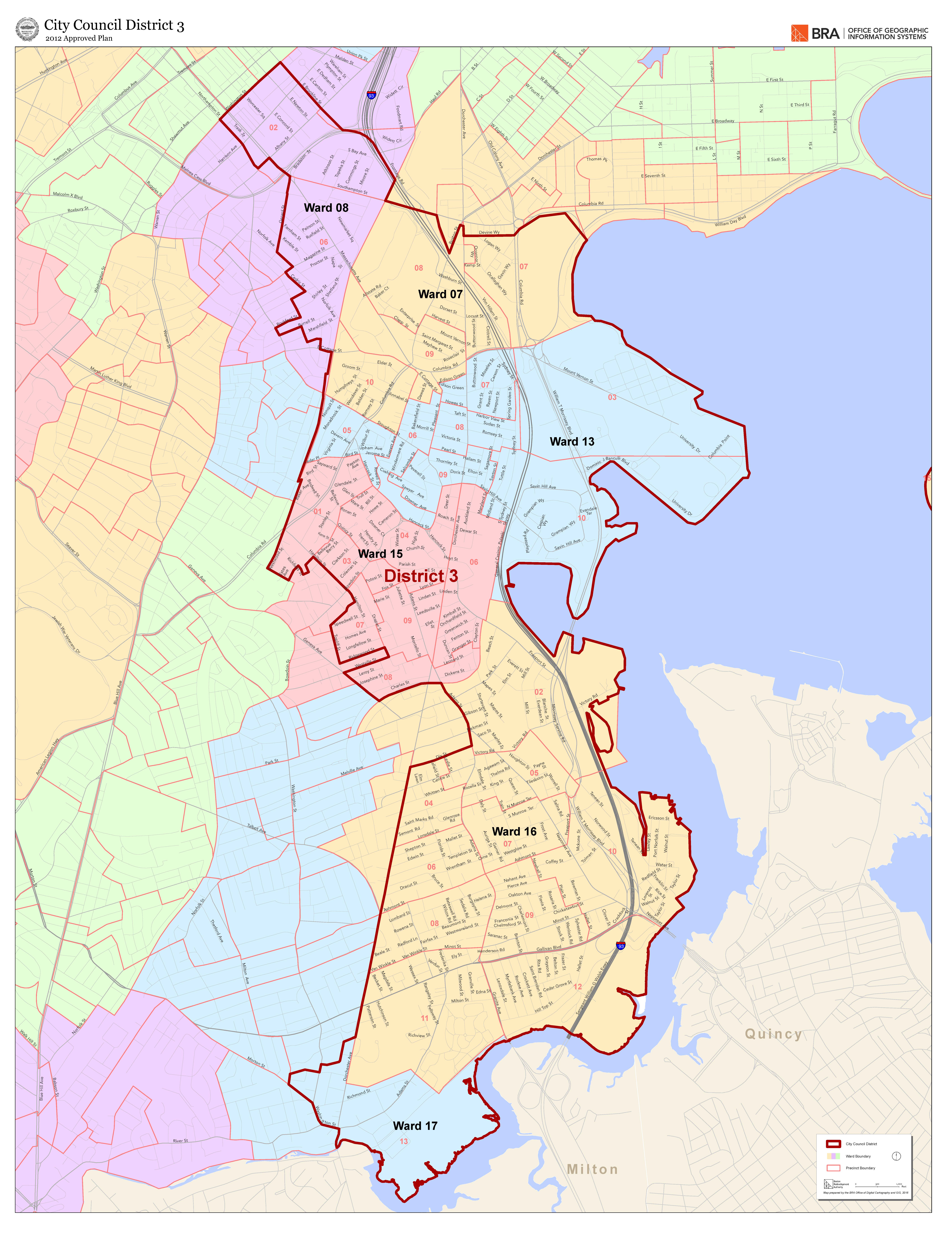 Electoral Maps Boston Planning Development Agency - Us house district 13 map