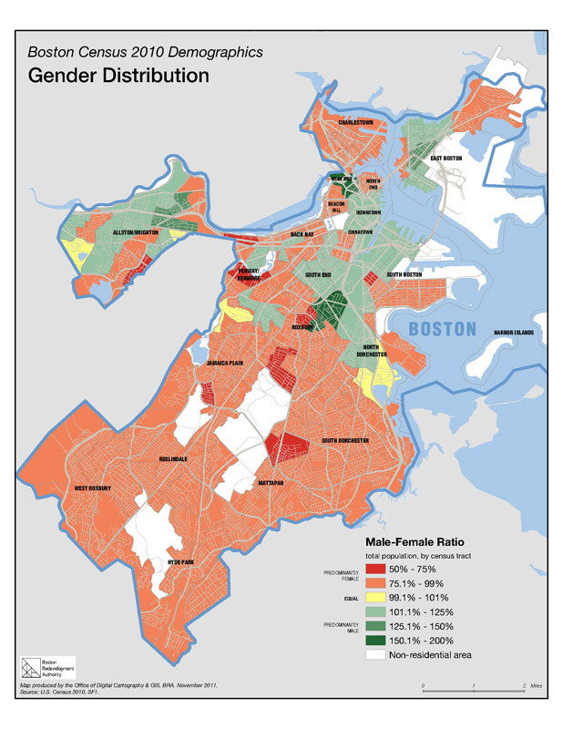 Census And Demographic Maps Boston Planning Development Agency - Income heat map us