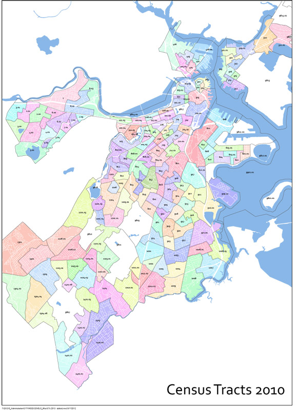 Census And Demographic Maps Boston Planning Development Agency - Us census block map