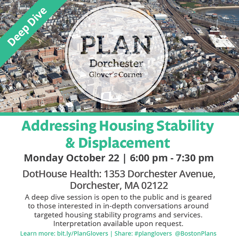 PLAN: Glover's Corner Deep Dive Session - Housing Stabilization