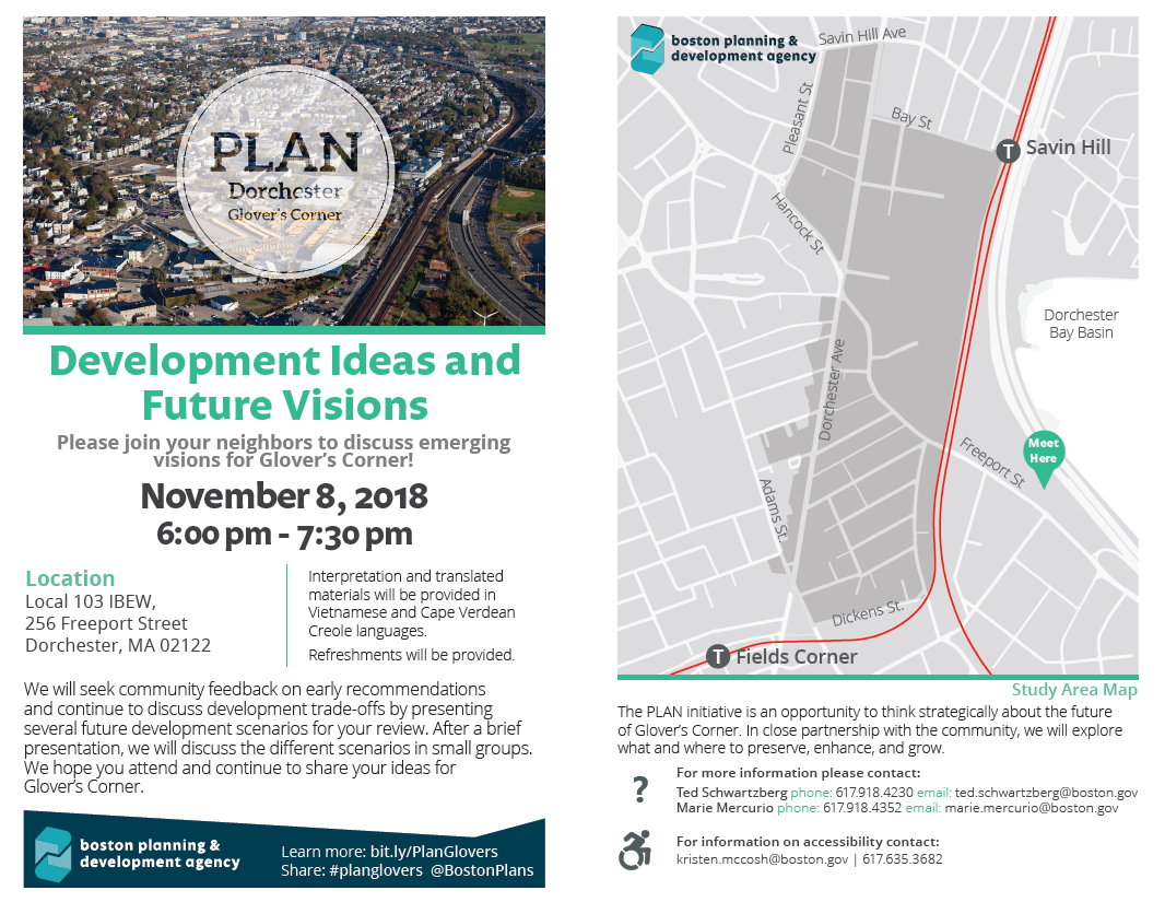 PLAN: Glover's Corner Development Ideas and Future Visions
