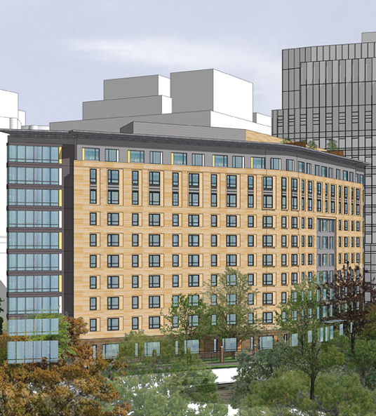 Two Garage Condo Developments Planned For Martin City Area: Mass Mental Health Center - Residential Building