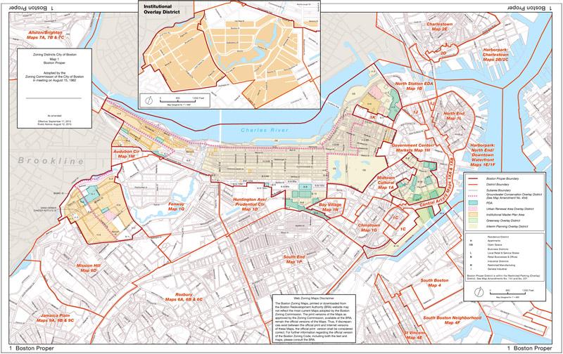 Zoning Maps Boston Planning Development Agency