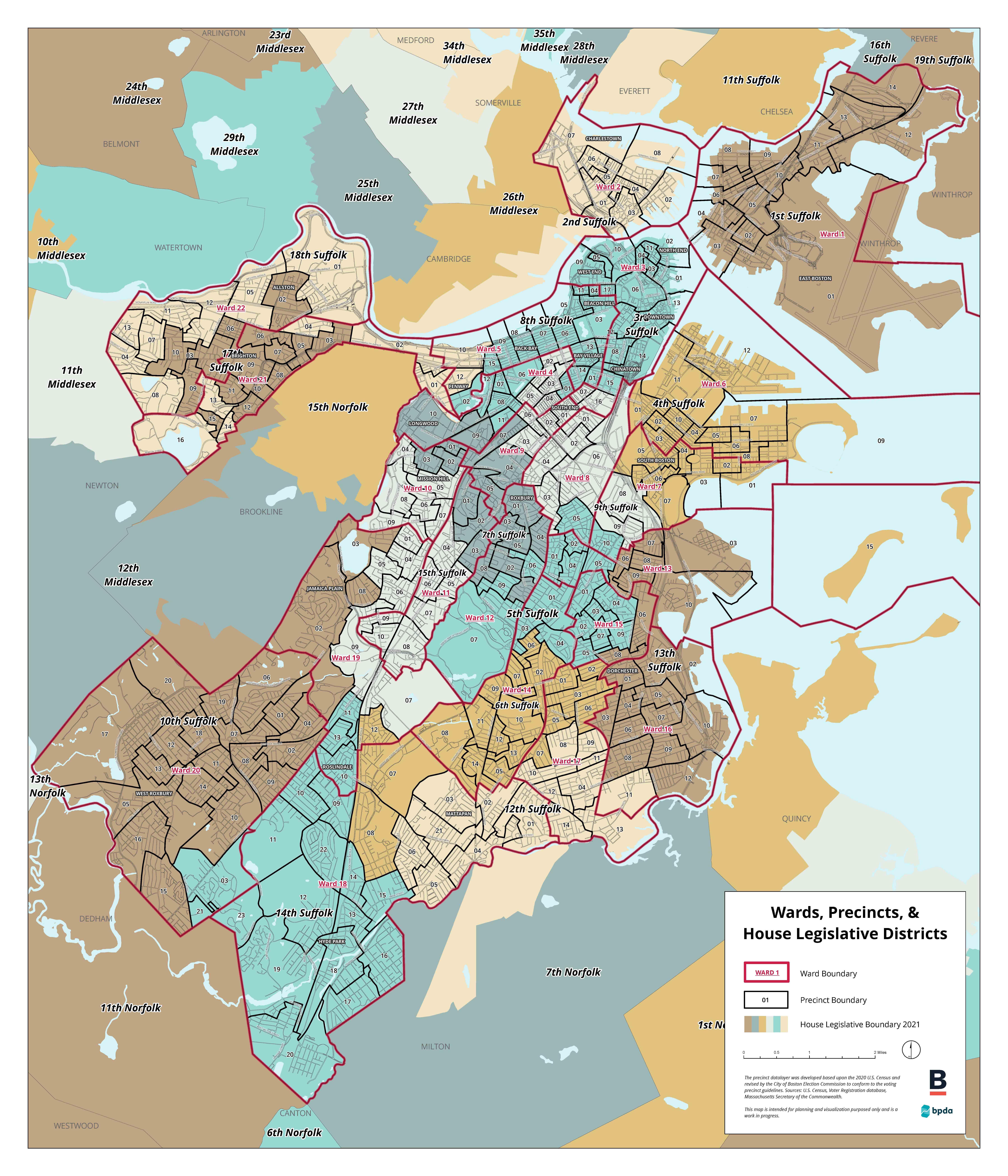 Electoral Maps Boston Planning Development Agency