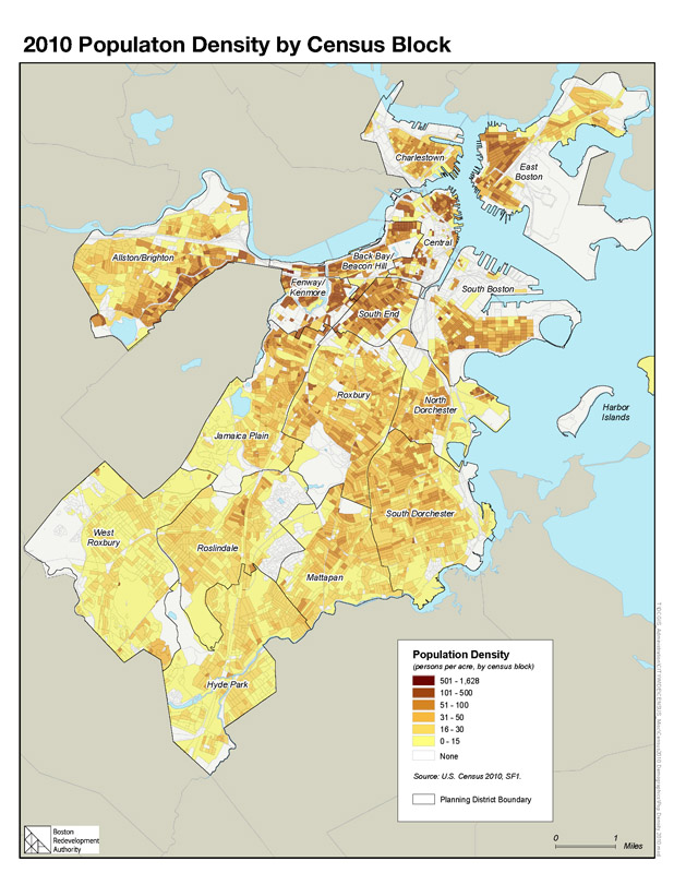 Census And Demographic Maps Boston Planning Development Agency - 2010 us population density map