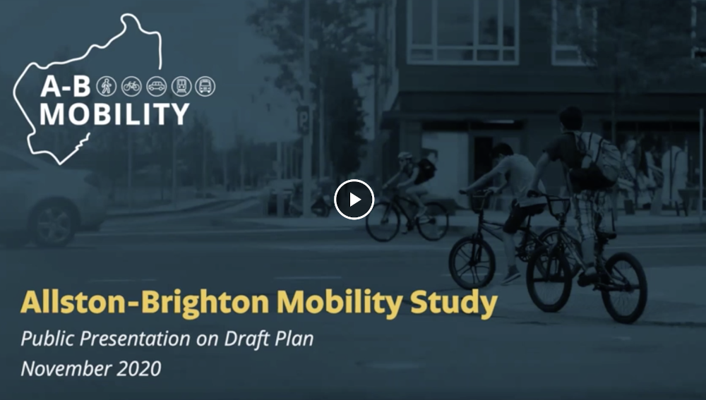Draft Allston-Brighton Mobility Plan Presentation
