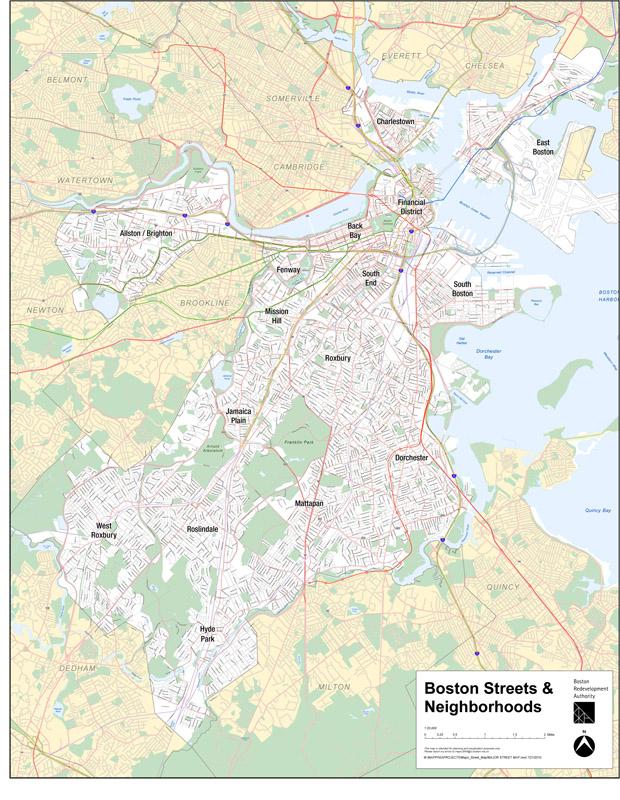 Boston Street Map Citywide Maps | Boston Planning & Development Agency