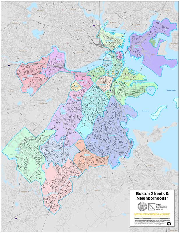 Boston Neighborhoods Map Citywide Maps | Boston Planning & Development Agency