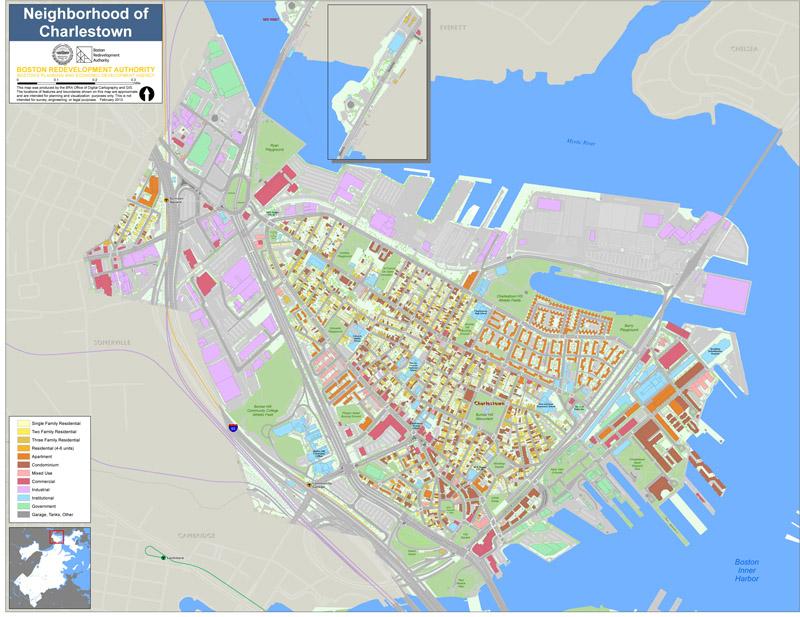 Boston Neighborhoods Map Neighborhood Maps | Boston Planning & Development Agency